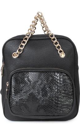 Kleio Designer Backpack and Sling Bag ( Black ) 1 L Backpack
