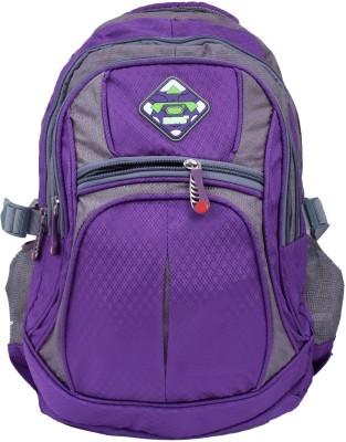 Super Drool Purple Mesh Trek and Travel Series 10 L Backpack