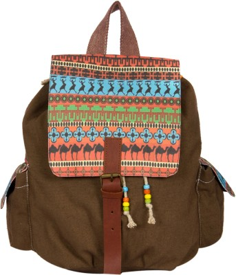 The House of Tara Printed Canvas 034 20 L Medium Backpack