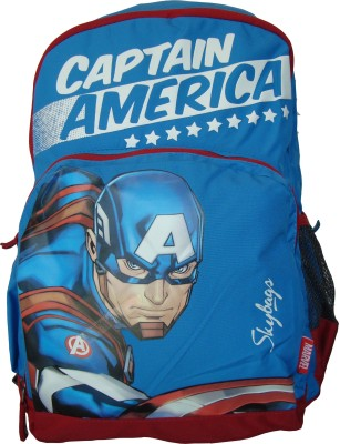 Skybags SB Marvel Champ Captain America 01 Blue 22 L Backpack(Multicolor)