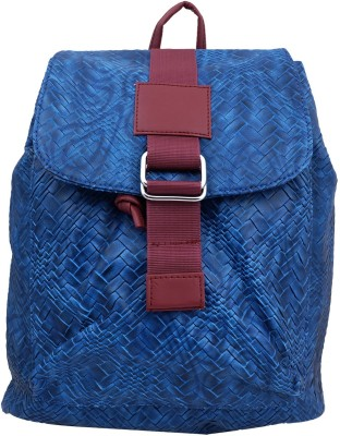 Super Drool Straw Texture Blue 12 L Backpack