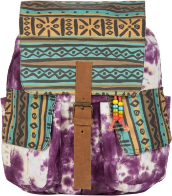 The House of Tara Printed Canvas 051 20 L Medium Backpack