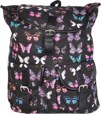AVANEESH TRENDY BLACK BUTTERFLY 10 L Backpack