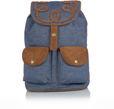 Shaun Design Denim Leather 8 L Medium Backpack
