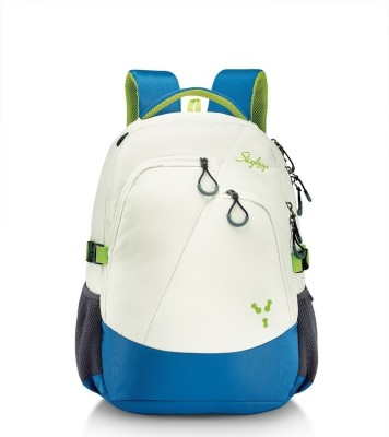 Skybag Crew 2.5 L Laptop Backpack(white, blue)