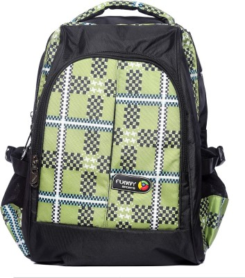 Raeen Plus Black/Green-Funny-Sports 10 L Backpack