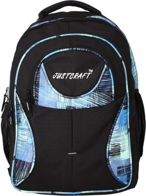Justcraft Five Star Black and Printed Blue 30 L Backpack