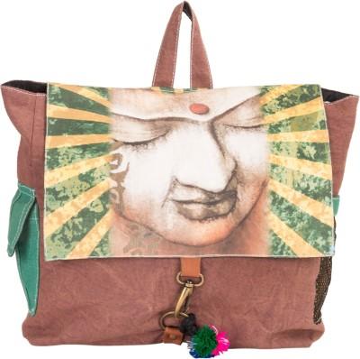 The House of Tara Canvas Buddha Bag 10 L Medium Backpack