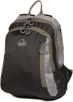 Fausta Black with Grey Hexagon 5 L Backpack