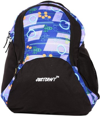Justcraft Pluto Black and NW Lite Blue 22 L Backpack