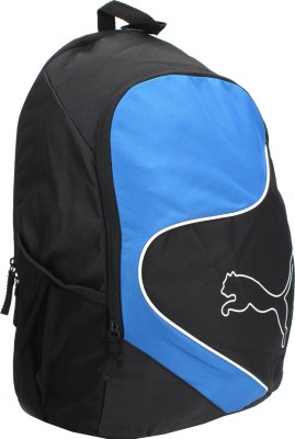 Puma New Power Cat Backpack(Black and Blue)