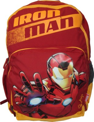 Skybags Sb Marvel Champ Iron Man 02 Red 25 L Trolley Backpack(Multicolor)