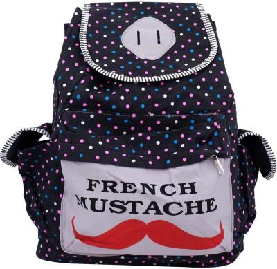 Super Drool Moochh & Dots Black 12 L Backpack