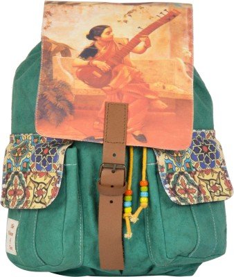 The House of Tara Printed Canvas 044 20 L Medium Backpack