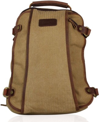 Zobello Canvas/Genuine Leather Nomad 18 L Medium Backpack