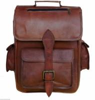 Pranjals House genuine leather 15 L Laptop Backpack(brown)