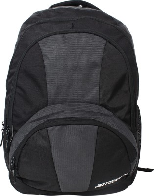 Justcraft Trendy Black and Dark Grey 30 L Backpack