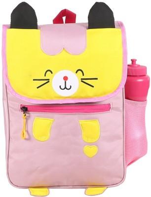 Bleu School Kids Bag - 14 Inches - Cutty Cat Shape boys Girls Bag - 22 14 L Backpack