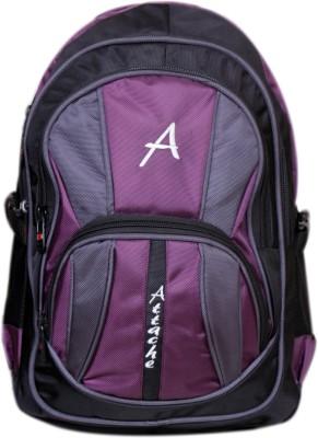 Attache Attache Premium School Bag / Laptop Bag (Purple & Black) 30 L Backpack