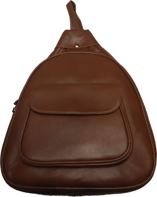 Leather Mall Leather Backpack With Zipper And Flap Compartments 2.5 L Backpack