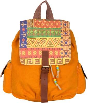 The House of Tara Printed Canvas 032 20 L Medium Backpack