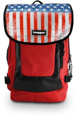 Tagger Urban Electro Stars & Stripes Bsly_bbrd (Red) Top Loaded Ultimate 21 L Laptop Backpack