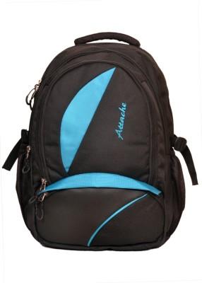 Attache Polyester School Bag/Laptop Bag (Blue & Black) 20 L Backpack