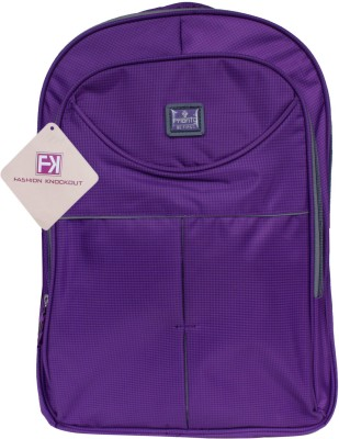 Fashion Knockout Cheakered Purple Candy 5 L Laptop Backpack