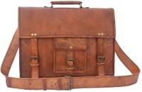 Crafat Vintage Genuine Leather Office Men's Laptop Messenger Bag (11x15) 10 L Backpack(BROWN)