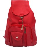 Vintage Stylish Ladies Expandable Backpack Handbag Red (bag 124) 2.5 L Backpack (Red)