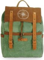The House of Tara Dual Tone Canvas 15 L Backpack(Hedge Green)