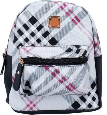 Super Drool White Mesh Stylish 2 L Backpack
