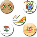 Capturing Happiness Patriotic Badge