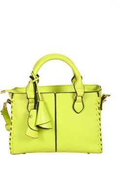 India Unltd Lemon Green Handbag School Bag
