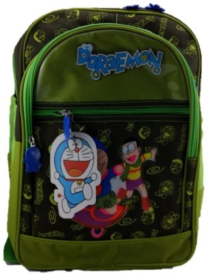 indidecor Doraemon Green 2 School Bag