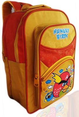 Digital Bazar Mangoish Yellow PUNJABI BIRD Cartoon School Bag (HUN BOL KAKA) Edition Waterproof School Bag
