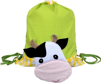 Little Pipal Farm Animals Junior Cow Drawstring Bag Backpack
