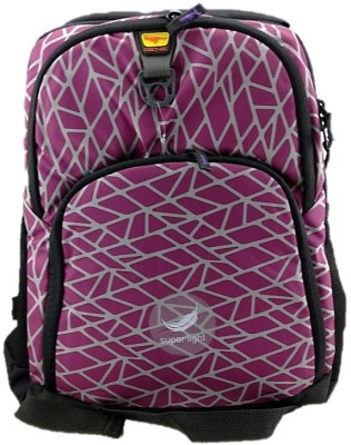 Gene Light Weight Purple Waterproof School Bag