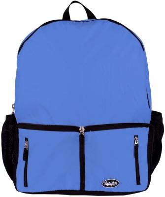 Be for Bag Double Zipper Blue Foldable School Bag