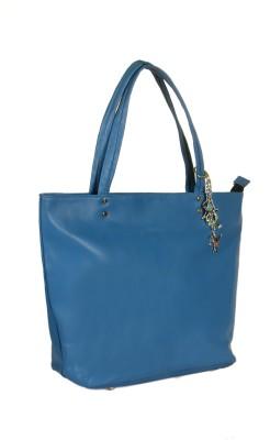 India Unltd Blue P.U. Tote Bag Tote Bag School Bag