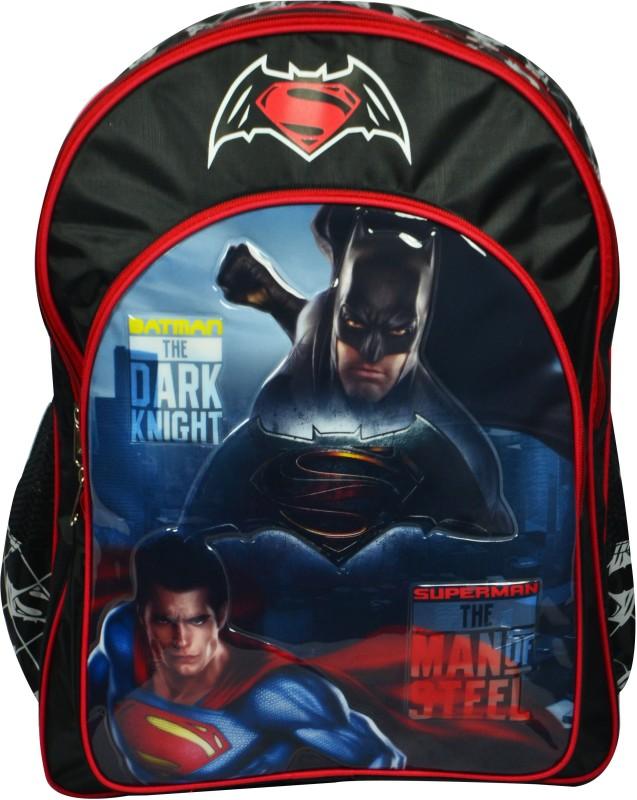 Batman vs Superman School Bag(Black, 18 inch)