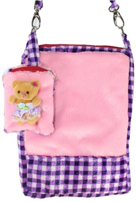 Tickles Cute Rectangular Stripe Design Soft Sling Bag School Bag