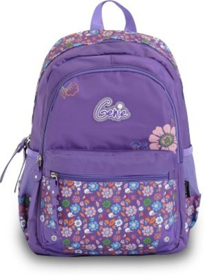 Genius 15 Inch Purple School Bag