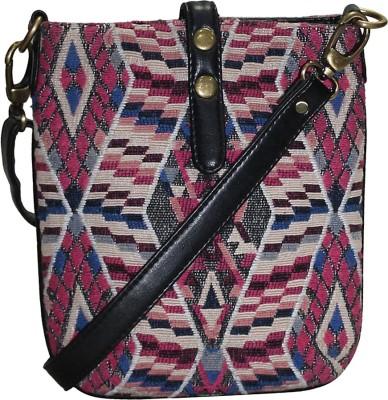 Moda Desire Fabric And Pu Bag School Bag