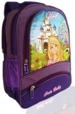 Digital Bazar Purple Idiyappam Gorgeous Charbie Girl Cartoon School Bag (NAWAB SAAB) Edition Kids Backpack Waterproof School Bag