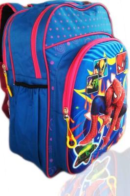 Digital Bazar Russian Blue 3D EMBOSSED KERELA JUNGLE SPIDER Cartoon Backpack(MUMMA CHOICE) Super Edition Waterproof School Bag
