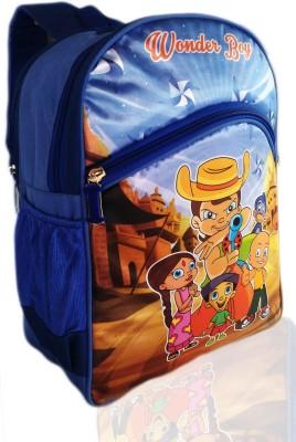 Digital Bazar Russian Special Blue CHOTA BACHHA Cartoon School Bag (BENGALURU vs KARNATAKA) Super Edition Waterproof School Bag