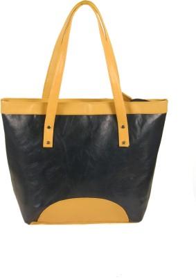 India Unltd Blue & Cream Tote Bag School Bag