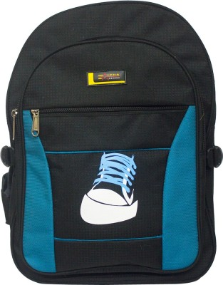 Alpha Nemesis Waterproof School Bag(Black, Blue, 18 inch)