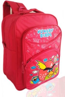 Digital Bazar Girly Pink MIRACLE BIRD Cartoon School Bag (MUMMAS DREAM) Edition Waterproof School Bag